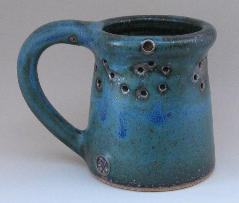 reitz green matte puzzle mug muddy mountain pottery