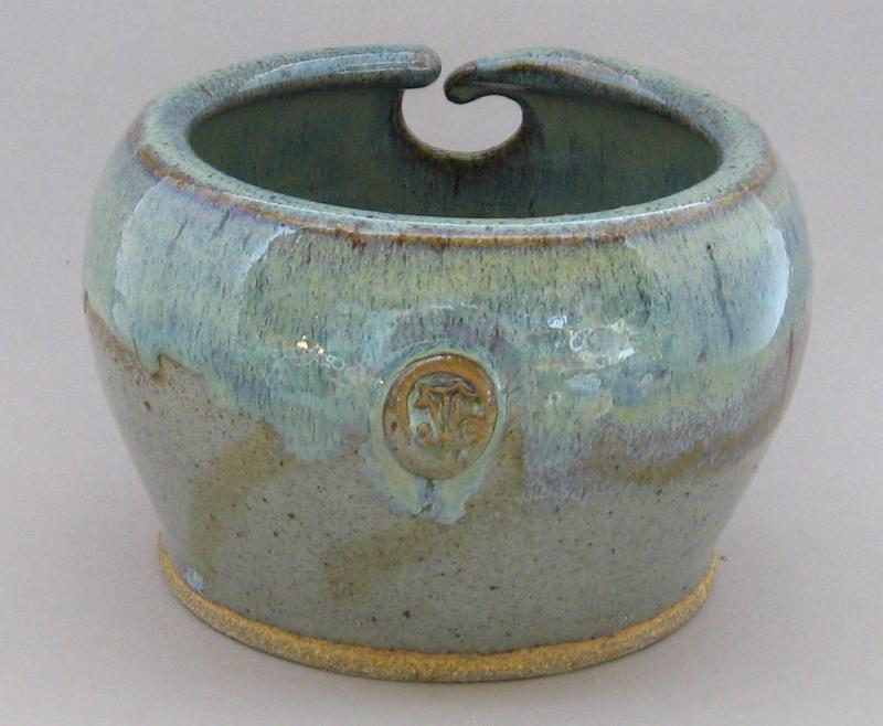 pottery yarn bowl grey