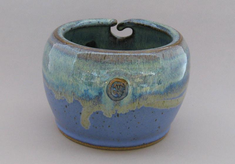 northern lights and lavender yarn bowl pottery